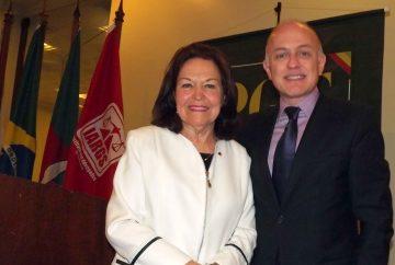 Reunião-almoço com o Procurador-Geral do RS, Euzébio Ruschel
