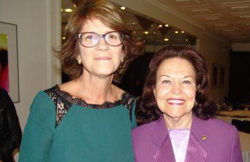Reunião-almoço com a presidente do TRE, Liselena Schifino Robles Ribeiro